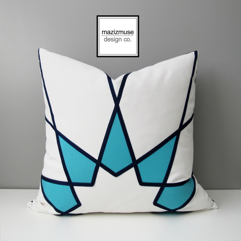 housse de coussin ext rieur bleu turquoise g om trique etsy. Black Bedroom Furniture Sets. Home Design Ideas
