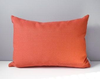 Sangria Outdoor Pillow Cover, Decorative Pillow Cover, Orange Pillow Cover, Echo Sunbrella Throw Pillow, Modern Cushion Cover Mazizmuse