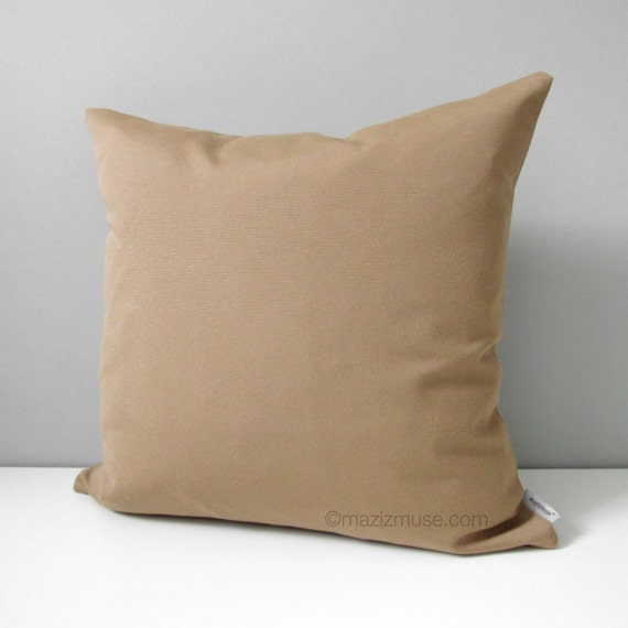 Decorative Camel Brown Outdoor Pillow Cover Throw Pillow Etsy