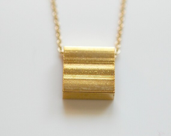 40% OFF SALE Gold square necklace