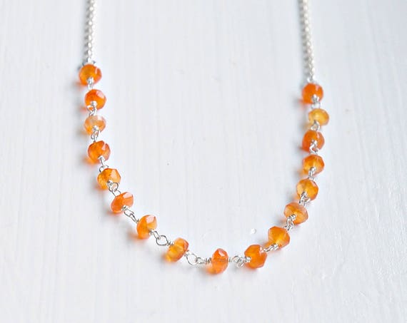 Gemstone necklace - pick a colour