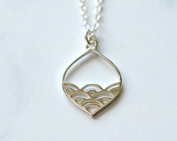 Sterling silver waves necklace