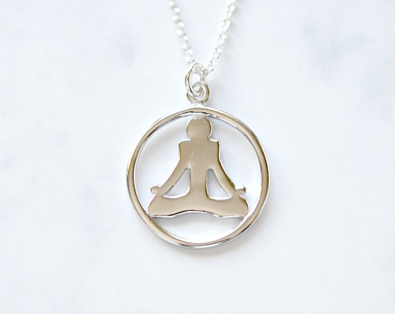 Sterling silver yoga necklace