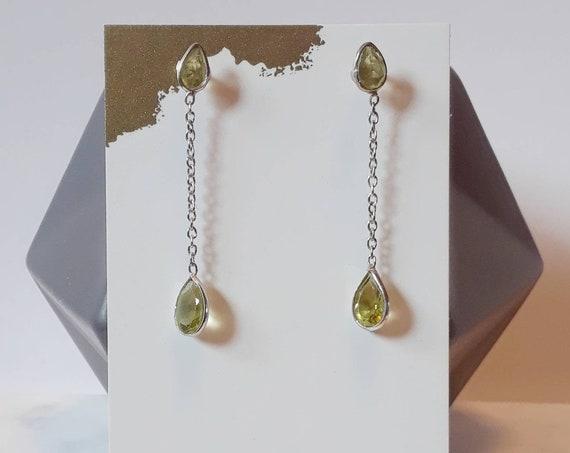 Gemstone earrings, blue topaz earrings, peridot earrings, amethyst earrings, sterling silver, august birthstone earrings, gem studs