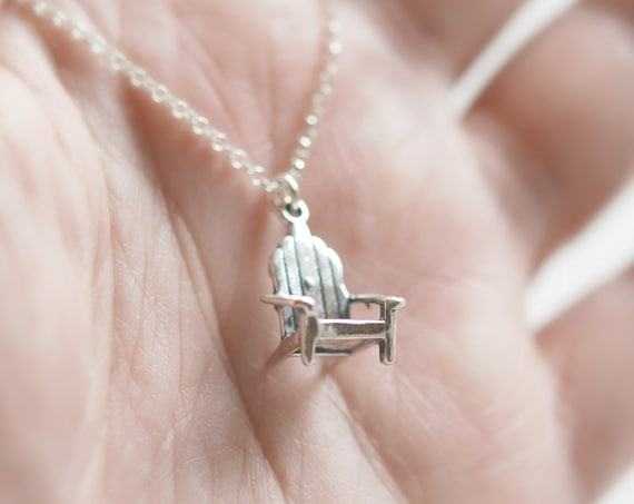 Sterling silver muskoka chair necklace