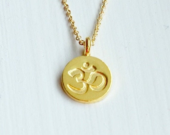Om necklace in gold or silver