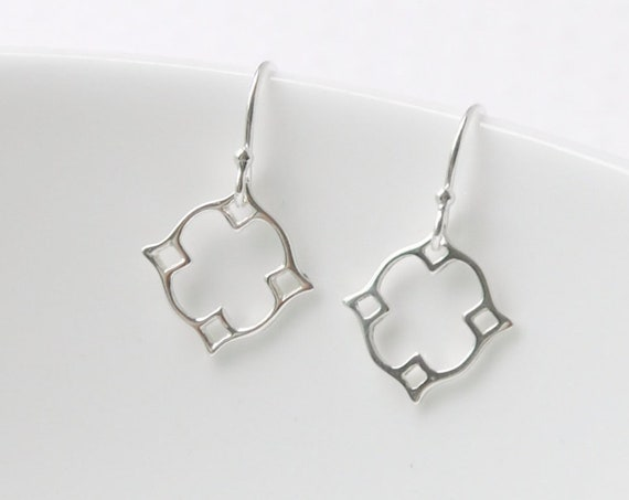 Sterling silver moroccan earrings