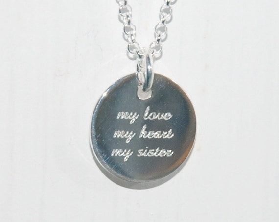 Engravable sterling silver necklace