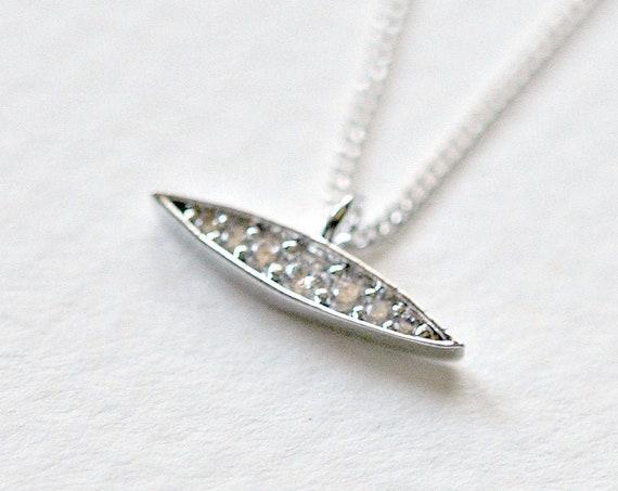 Cubic zirconia marquis necklace