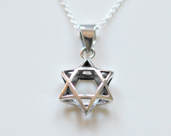 Star of David necklace in sterling silver