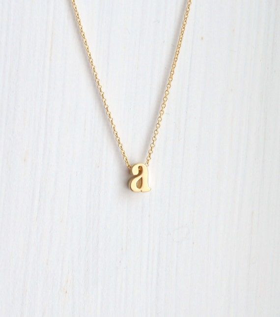 40% OFF SALE Gold initial necklace