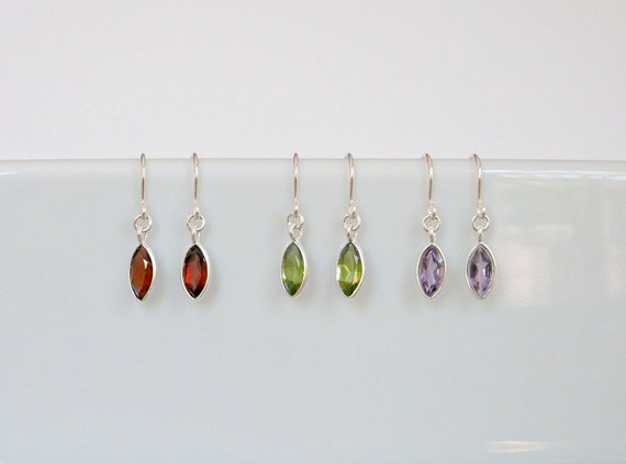 Gemstone drop earrings - choose your colour