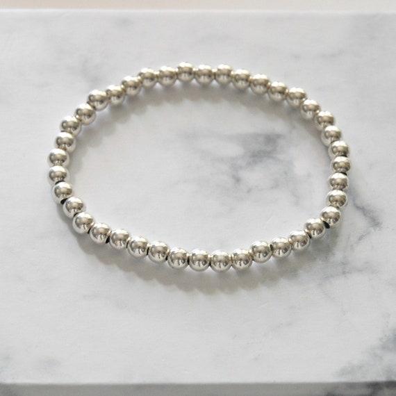 Sterling silver balls bracelet