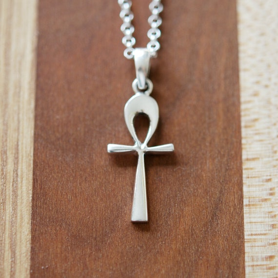 Sterling silver ankh cross necklace