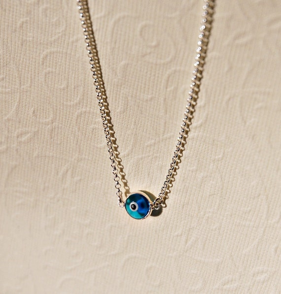 Evil eye necklace - pick a colour