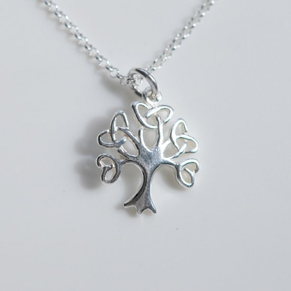 Sterling silver celtic tree of life necklace