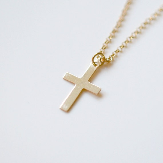 40% OFF SALE Gold cross necklace