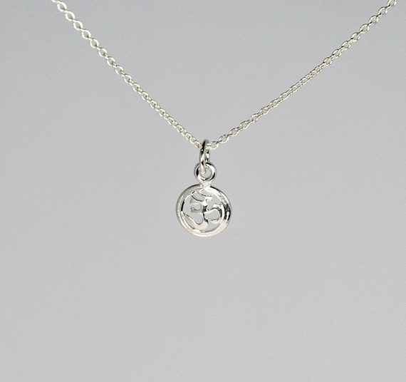 Tiny sterling silver ohm necklace