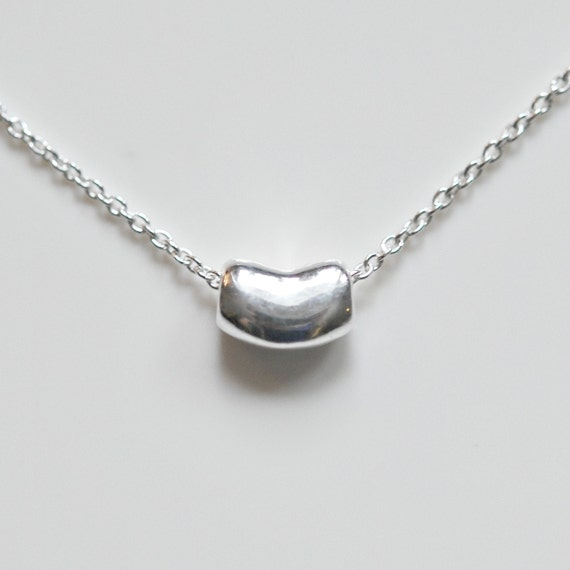 Sterling Silver Bean Necklace