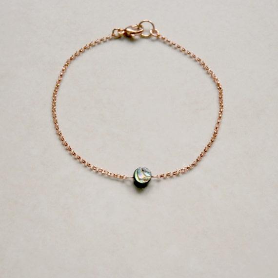 Abalone shell bracelet or anklet