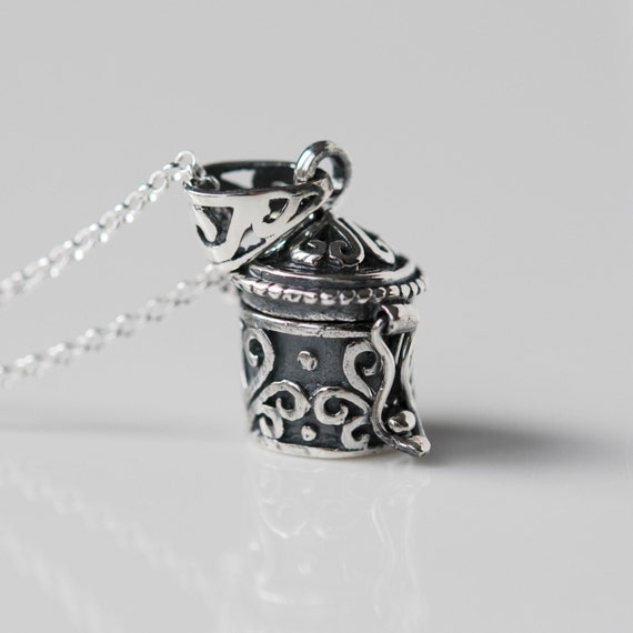Sterling silver stash pendant necklace