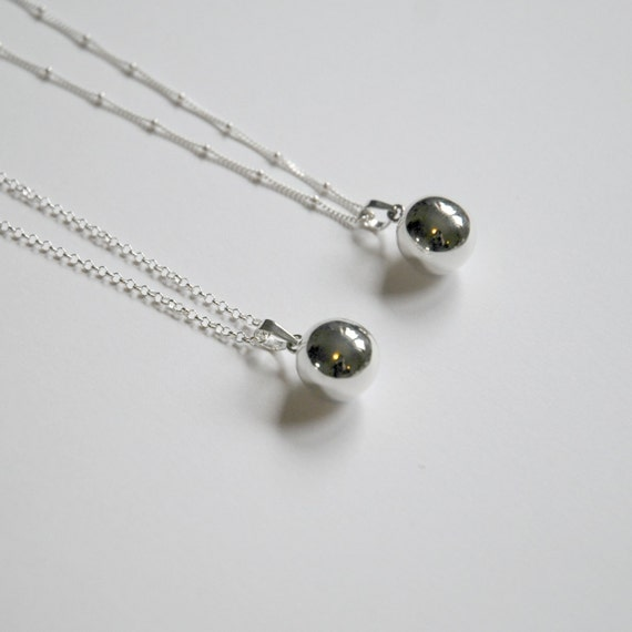 Sterling silver harmony ball necklace