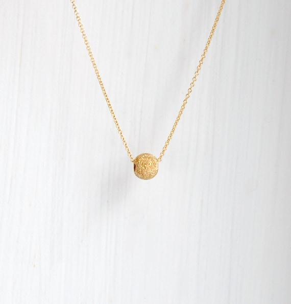 Stardust ball necklace in gold or silver