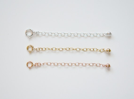 Silver or gold extender chain - make your necklace adjustable