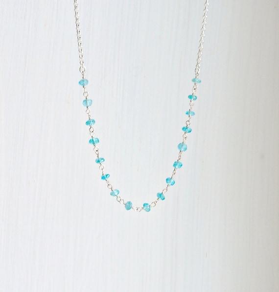 Gemstone necklace - pick a colour
