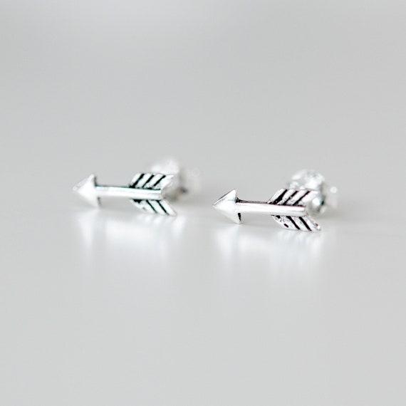 Sterling silver arrow stud earrings, arrow earrings, follow your arrow, back to school gift, geometric studs, simple jewelry