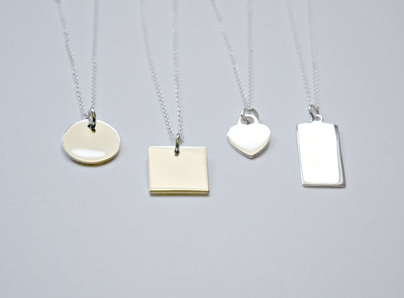 Sterling silver tag necklace