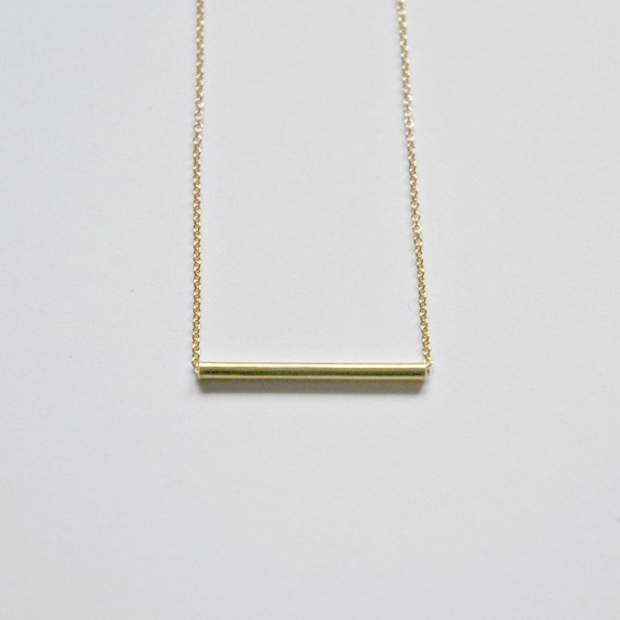 Bar necklace in sterling silver or goldfilled