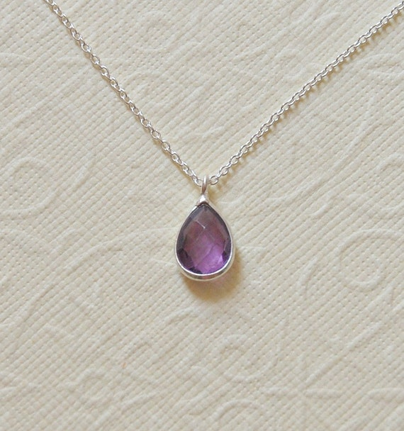 Gemstone teardrop necklace