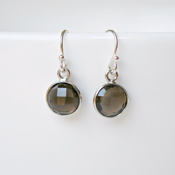 Smoky topaz earrings