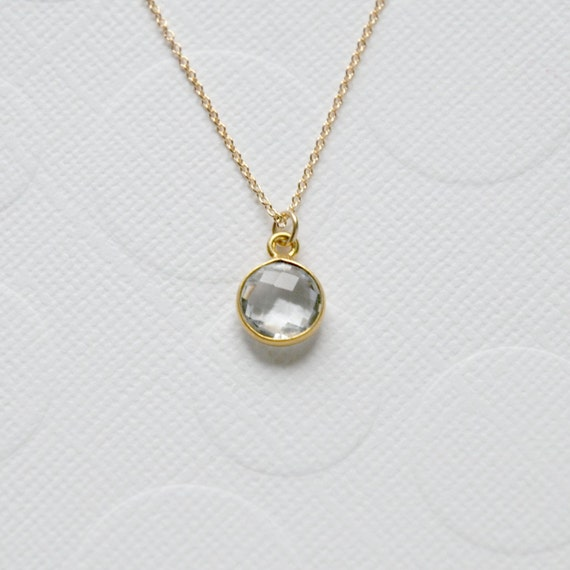 Gold and crystal quartz necklace