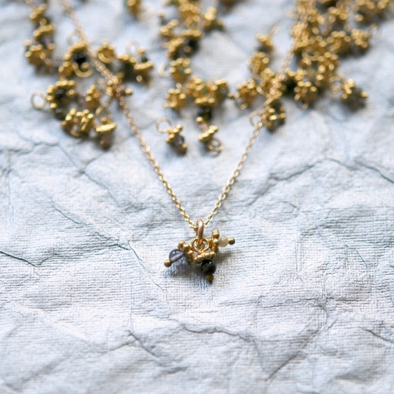 Gemstone necklace, gold necklace, tourmaline pendant, delicate necklace, bridesmaid necklace, dainty jewelry, gift for women