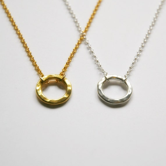 40% OFF SALE Hammered circle necklace