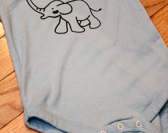 Ellie the Elephant Screen Printed Onesie