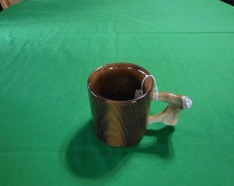 Catalpa mug with Antler Handle lot 249