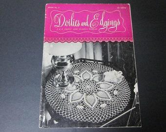 1947 Home Decor Coats and Clark No Vintage Patterns 235 Pub Doilies Thread Crochet Patterns