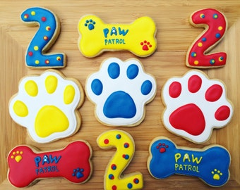 One dozen Paw Patrol cookie favors