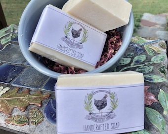 Shea Butter Olive Oil Vegan Bar Soap Handmade Honey Floral Scent | 100% Net Proceeds to Animal Rescue Charity