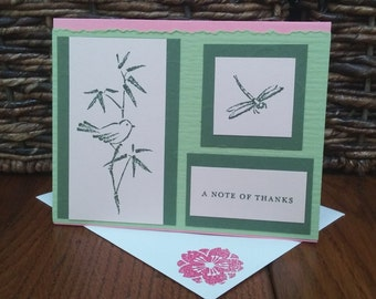 Bamboo Dragonfly Thank You Card