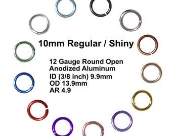 Choose  Quantity Saw Cut 18 Ga Sterling Silver 12 MM  O//D Heavy Jump Ring