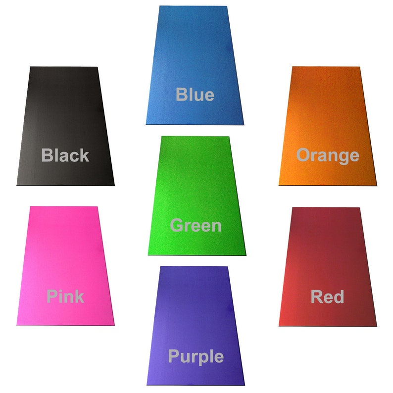 20 GA Anodized Aluminum Strip  12 x 2 Inch  choose from 7 colors  use as bracelet blanks or cut into charms pendants or discs