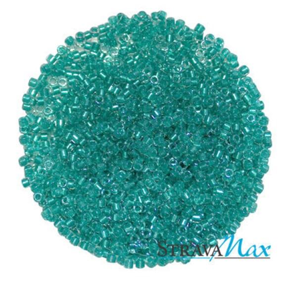 Miyuki Delica Beads Miyuki Delica 110 DB0904 Sparkling Aqua Green Lined Crystal