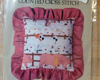 Barnyard Animals Picture Counted Cross Stitch Kit by Something Special
