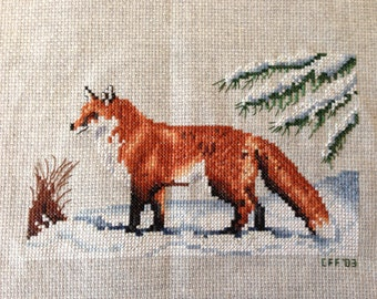 Winter on Fox Hill Counted Cross Stitch