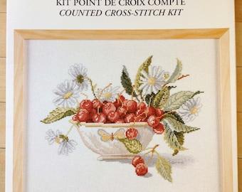 Cherries Cup - Coupe de Cerises Counted Cross Stitch Kit