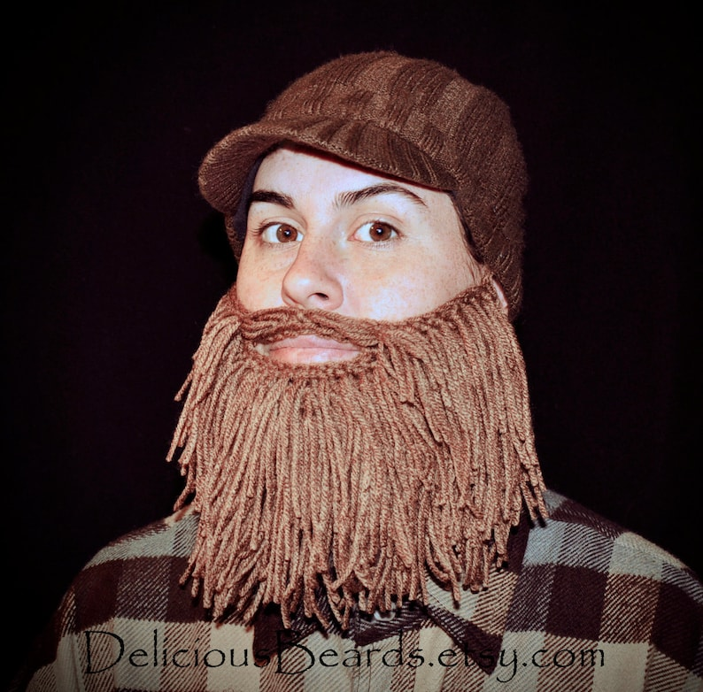 Adult Size Long Yarn Beards 8 color options